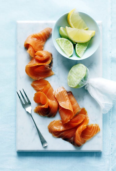 Smoked Salmon - love this presentation as opposed to the standard rolls or slices