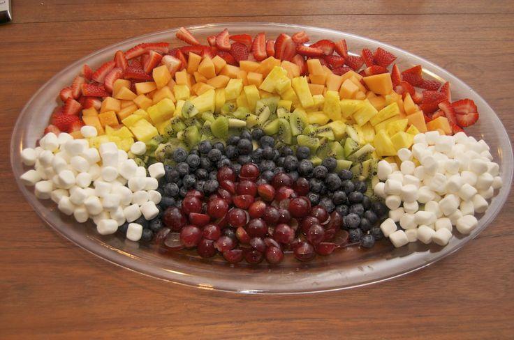 Healthy birthday treat for school! #rainbow #fruit #birthday