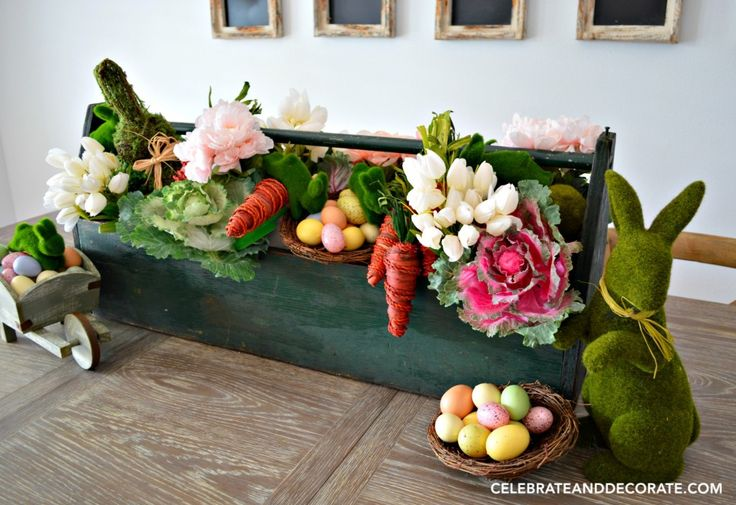 Easter Farmhouse Table Centerpiece