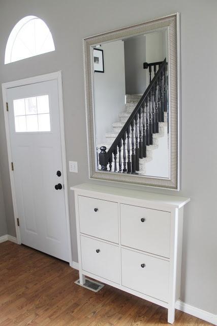 Hemnes Shoe cabinet with mirror - for bedroom?