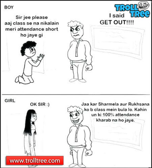 School Teacher Jokes – #Girls Vs Boys..!!! - TrollTree ...