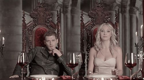 #TVD The Vampire Diaries  Joseph Morgan(Klaus) & Candice Accola(Caroline)