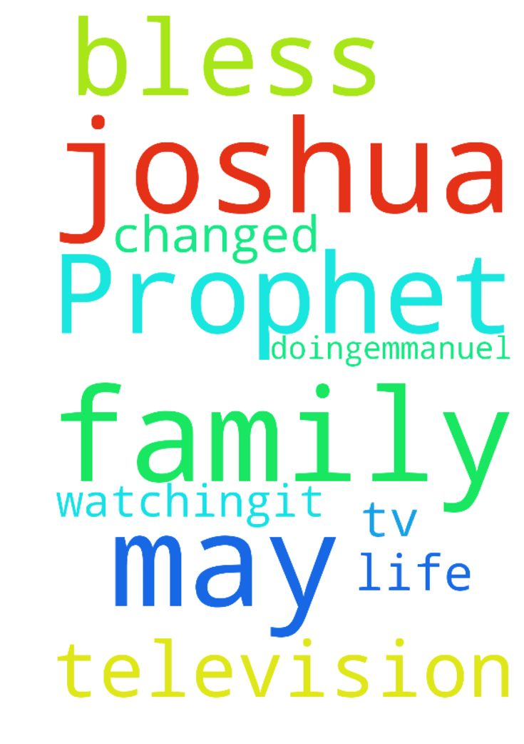 Prophet t b joshua may God bless u and your family - Prophet t b joshua may God bless u and your family for what you are doing.emmanuel tv is the only television i am watching.it has changed my life. Posted at: https://prayerrequest.com/t/zuP #pray #prayer #request #prayerrequest