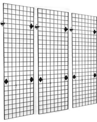 2 u0026 39  x 6 u0026 39  grid panel wall three pack combo with wall mount