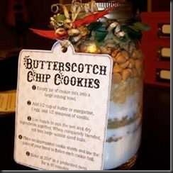 """This site has several different recipes for mason jar cookies including gift tag """"instructions """""""