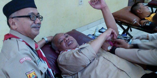 Pramuka Kwarcab Kota Bogor Gelar Aksi Donor Darah | Edupost.ID