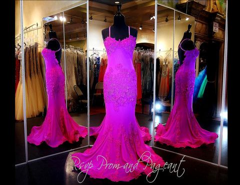 115FU0BELLISSA0450 MAGENTA LACE GOWN WOW!!! This Fabulous Lace over Jersey Gown in Brilliant Magenta exudes Understated Sophistication and Sex Appeal! ONLY available at Rsvp Prom and Pageant in Downtown Lawrenceville, Georgia or order it online at http://rsvppromandpageant.net/collections/long-gowns/products/115fu0bellissa0450-magenta-lace