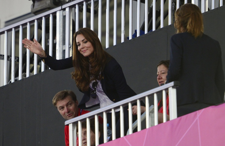 Royals at Olympics 2012  Kate was rooting for Team GB as they took on Argentina in the women's hockey semifinal.