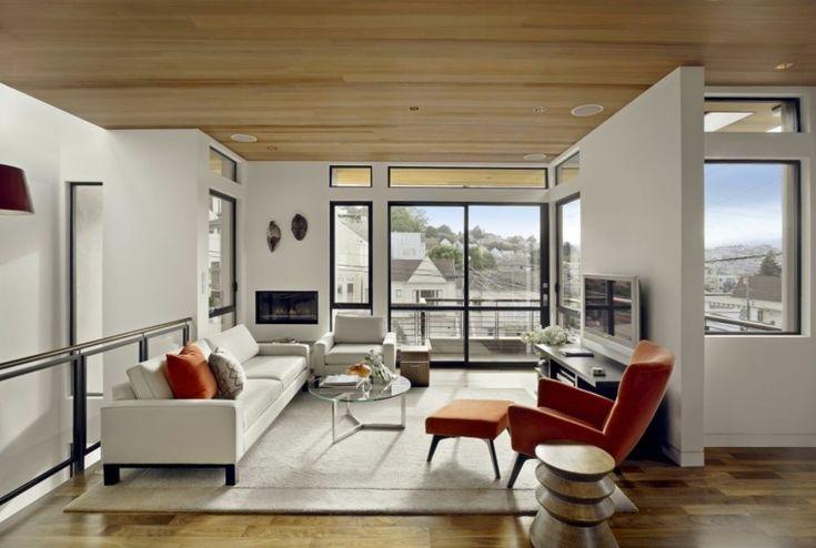 laminado de madera para techos de salones