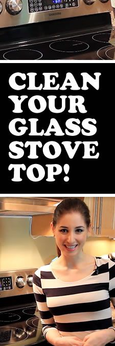 Best way to clean your glass cooktop PERIOD! Love this! Works way better than store-bought stuff.a hot bowl of water some dawn dish soap and a rag large enought to cover your stove top sprinkle with baking soda and cover with wet towel let sit for half an hour then blam scrub it clean just wont work on a stove top that has had a pot burnd dry on it pitting has happened and area is damage