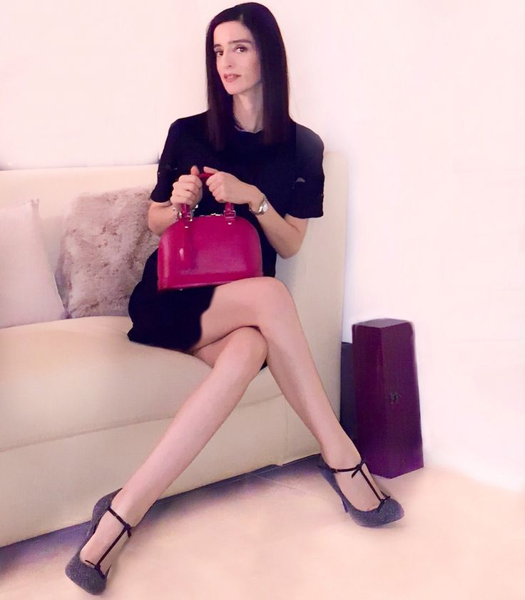 Louis Vuitton alma mini bag and Gucci t-strap tweed pumps