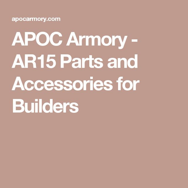 APOC Armory - AR15 Parts and Accessories for Builders