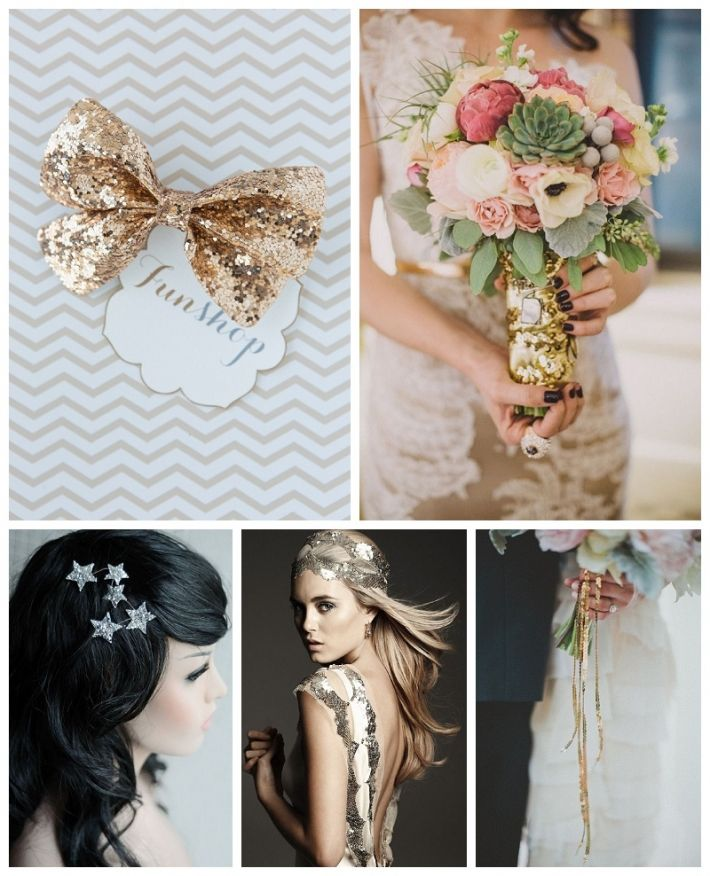 All that glitters  - sparkly wedding inspiration