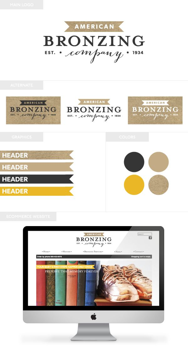 American Bronzing Co. | Branding and eCommerce Web Design by Emily M. Thompson | Indie Shopography