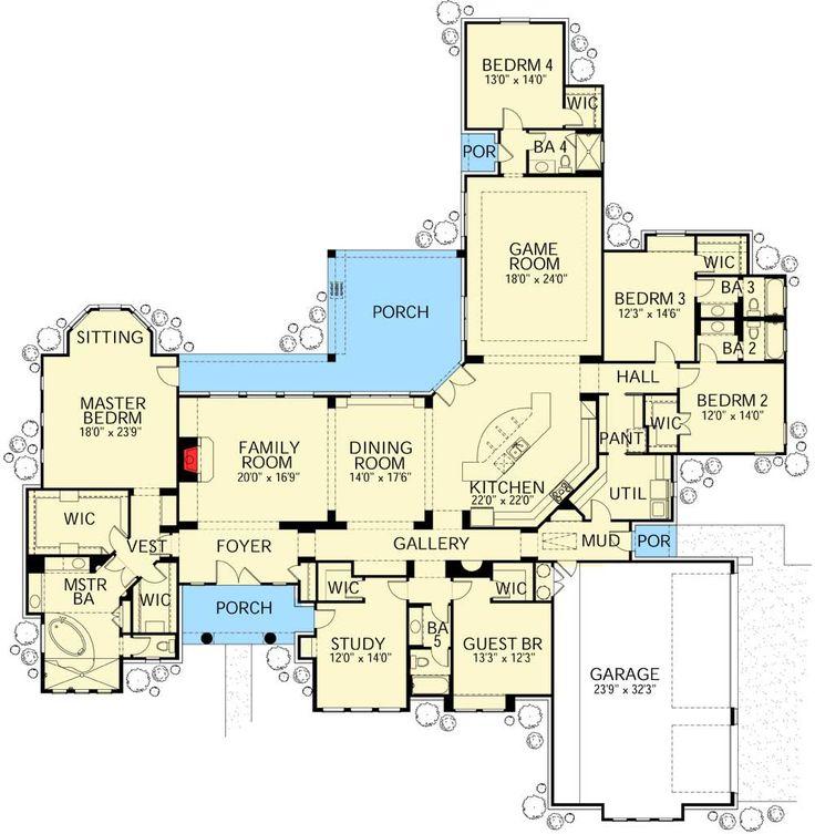 Plan 28337HJ: Five Bedroom Mediterranean Stunner