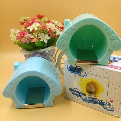 Hamster Small Animal Pet Cool Cage Room House Nest with Ice Pack Plastic Toy