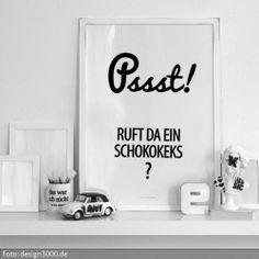 Statement-Poster zum Aufhängen.