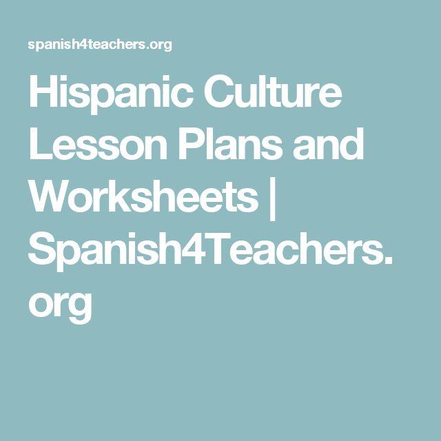 hispanic culture lesson plans and worksheets spanish pinterest. Black Bedroom Furniture Sets. Home Design Ideas