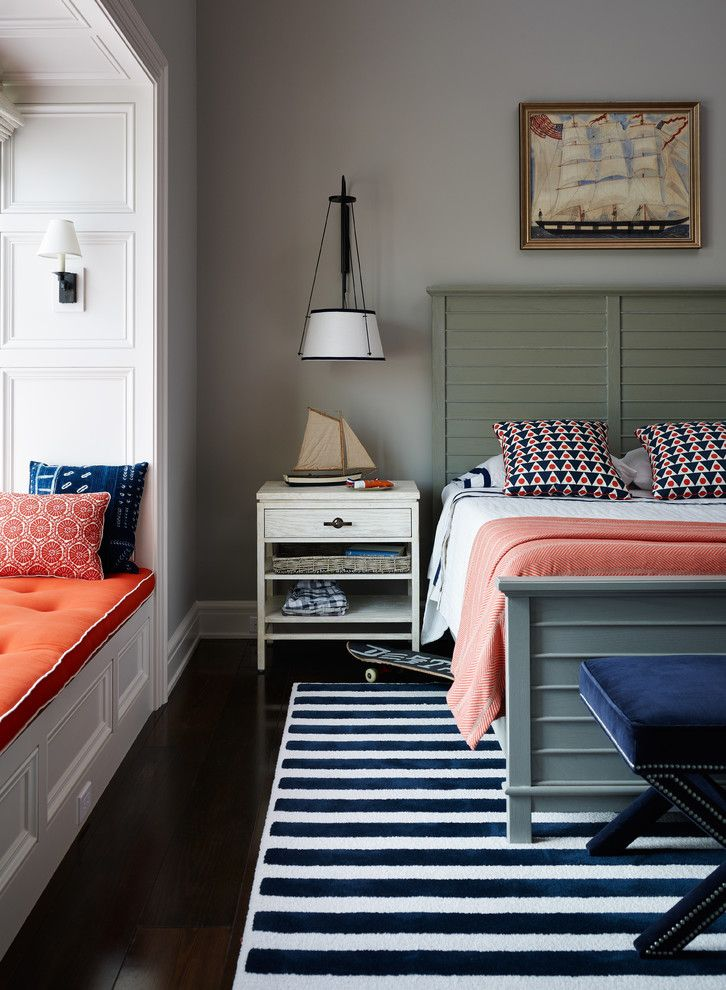 Coral and navy bedroom ideas bedroom victorian with merida rug kids room