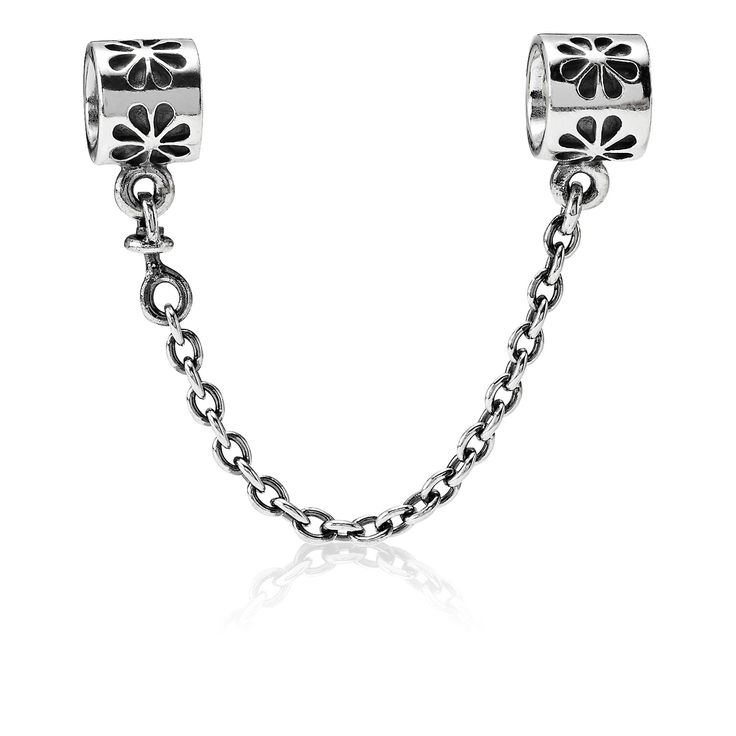 Daisies silver safety chain