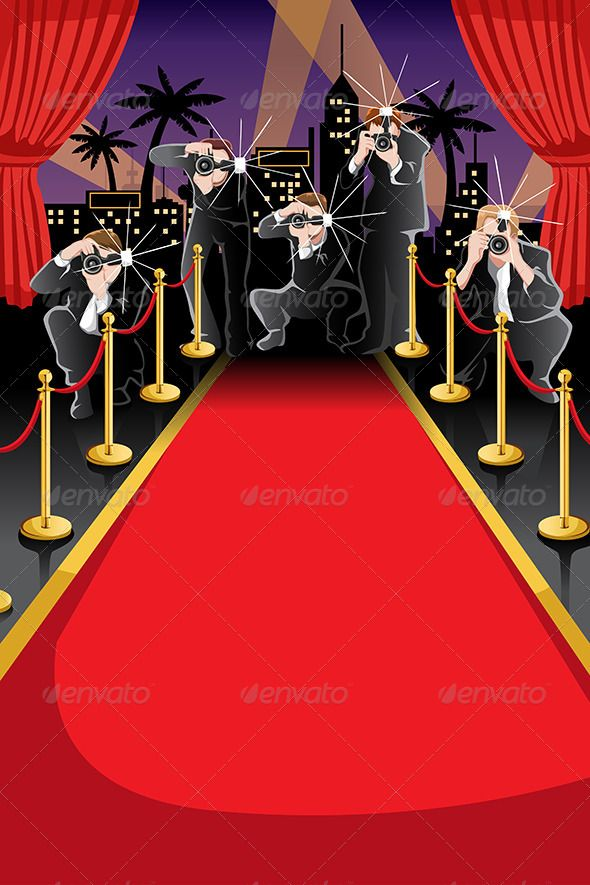 Red Carpet And Paparazzi Background Backgrounds