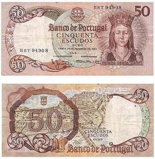 Notas antigas,portugal