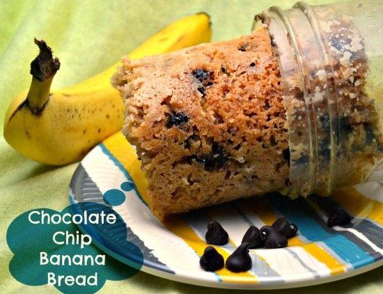Crockpot Chocolate Chip Banana Bread in a Jar