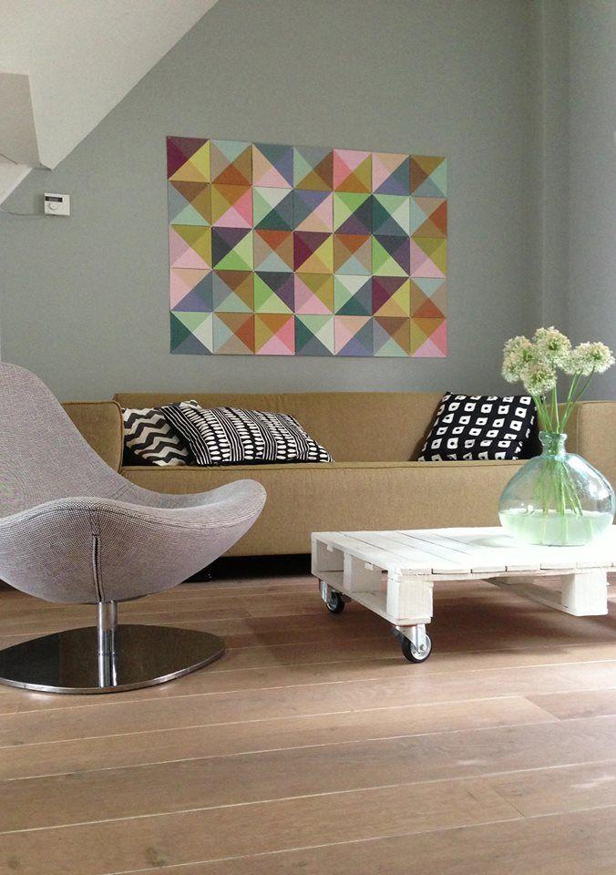 Meer dan 1000 afbeeldingen over kleur in huis op pinterest interieur geometrische muur en - Kleur voor volwassen kamer ...