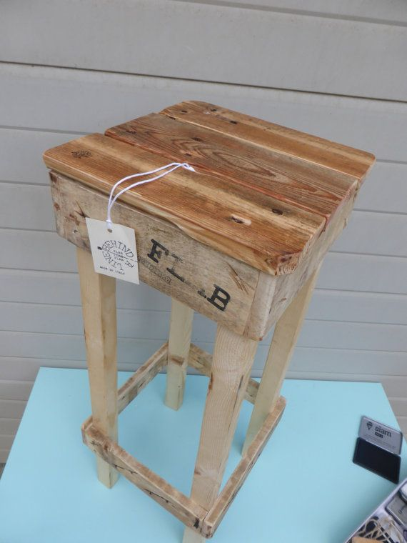 High stool pallets  sgabello alto pallets by FLAB