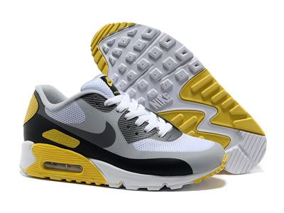 discount nike air max 90 hyperfuse women shoes yellow gray black