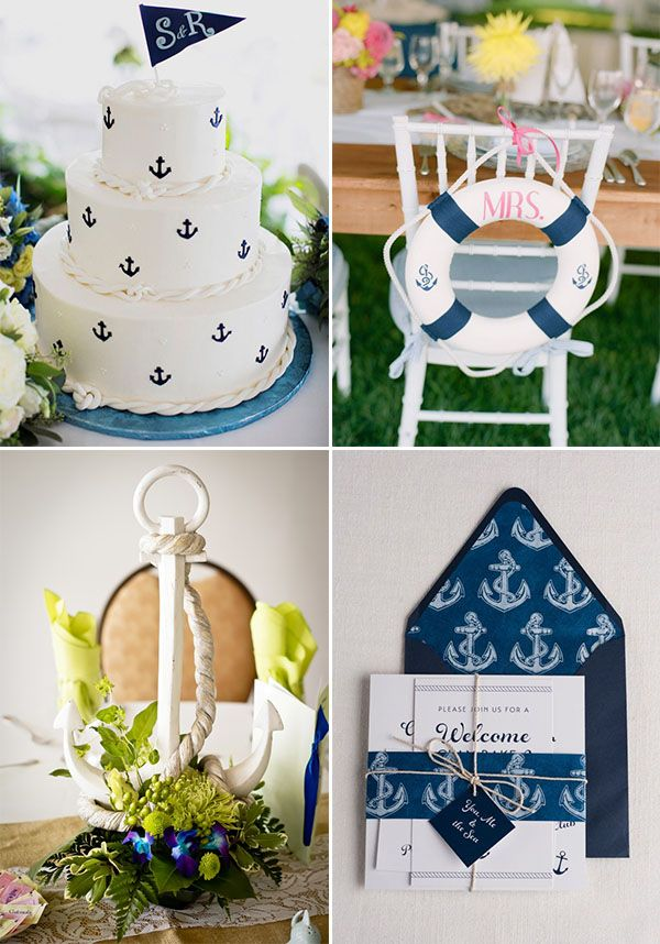 anchor details for a nautical wedding