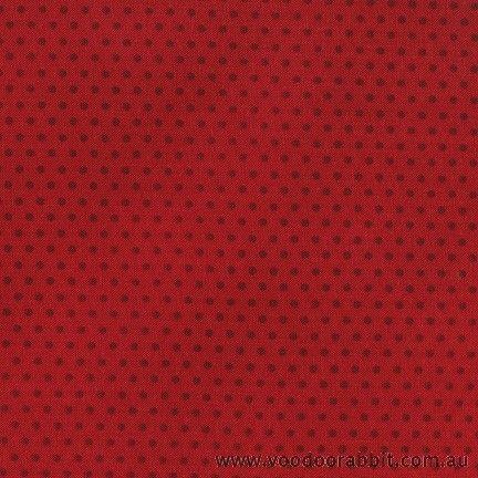 Spot On Pindot Cardinal Red Cotton Fabric by Robert Kaufman | Voodoo Rabbit Fabric, East Brisbane Australia