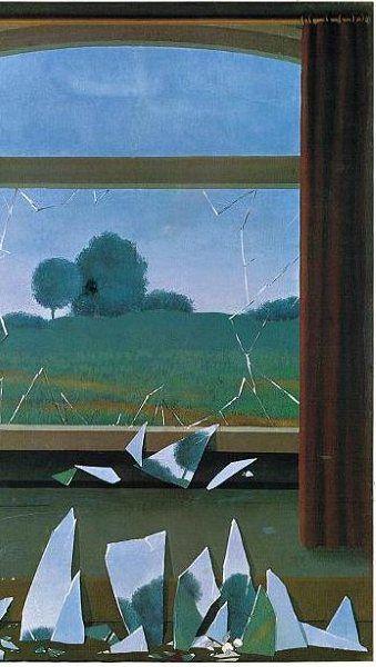 ルネ・マグリット 「田園への鍵」 Rene' Magritte: La Cle' des Champs, 1936 部分