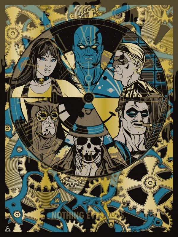 The Watchmen - written by Alan Moore, art by Dave Gibbons and coloring by John Higgins