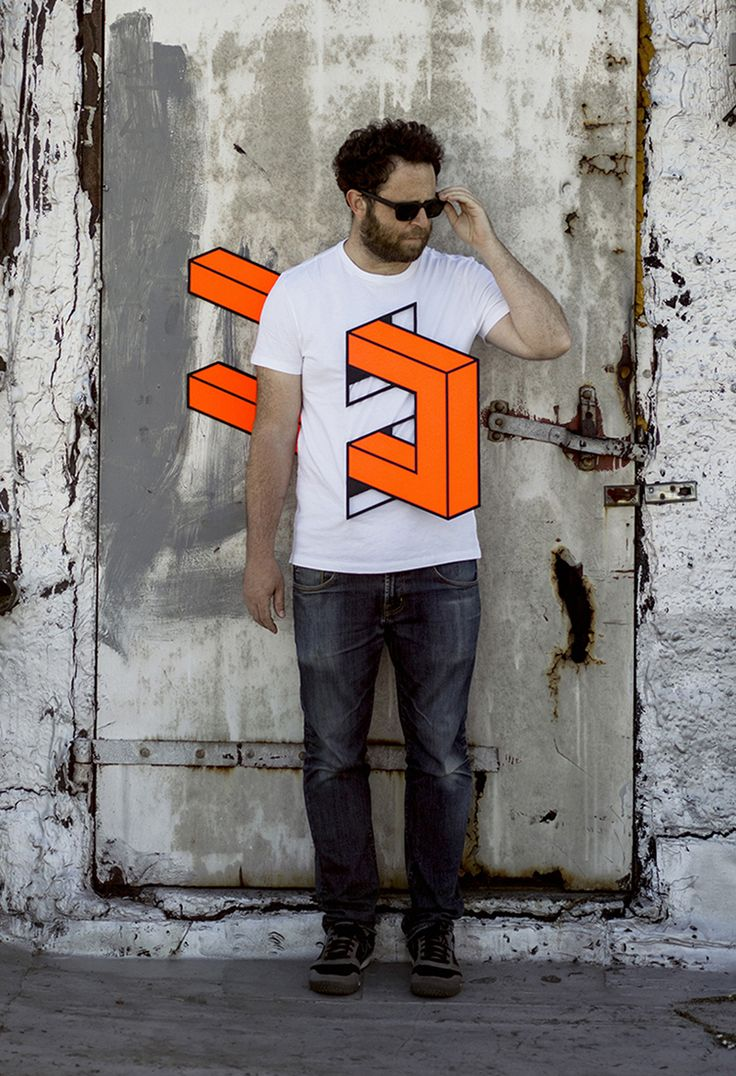 People Skewered with Geometric Shapes by Aakash Nihalani tape street art geometric