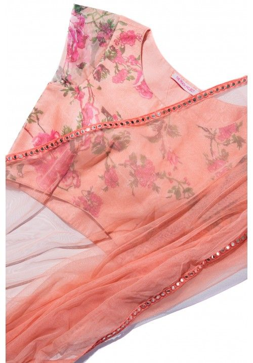 The Peach Project-Peach Mirror Sari