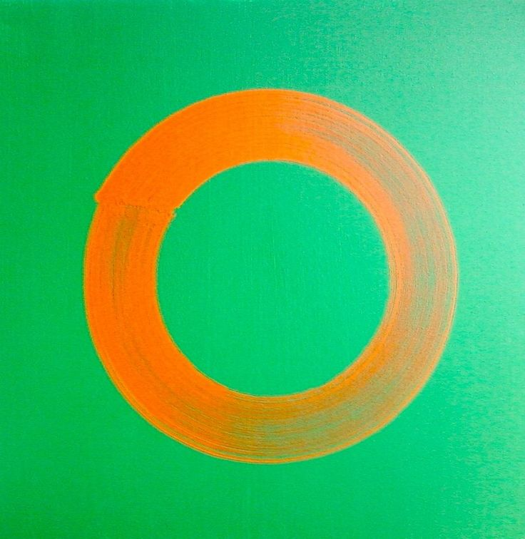 Cobalt green and cadmium orange 2013 acrylic on canvas 20| x 20""