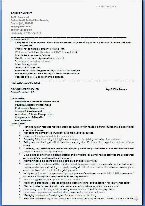 Cv Opmaak Sample Template Example Of Excellent Curriculum Vitae / Resume  Format With Career Objective Job