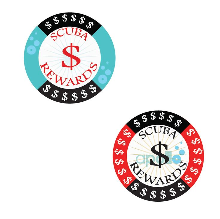 Apollo has setup on ScubaOnline website a loyalty program to reward their online buyers of scuba equipment. To brand this program, the clients decided that he needs a logo that will become symbol of ScubaOnline website: the Scuba Rewards Points. The Scuba Rewards Points logo design was inspired by the casino chips as symbol of monetary conversion at the end of the game. You buy more scuba equipment on ScubaOnline website and you will get more points (casino chips) that can be converted in r