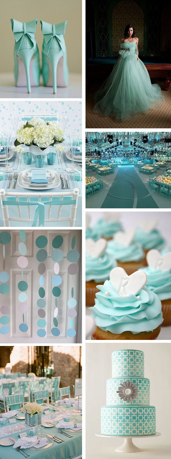 Tiffany Blue Weddings - but I still want a white dress instead!
