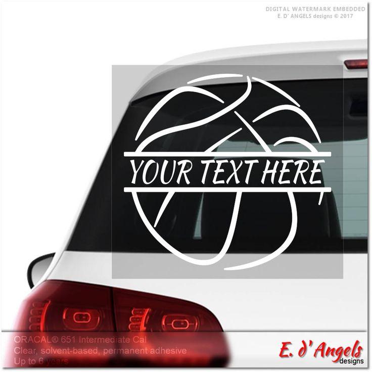 Basketball Decal, Monogram Car Decal, Cute Car Decals, Car Monogram Decal,  Car