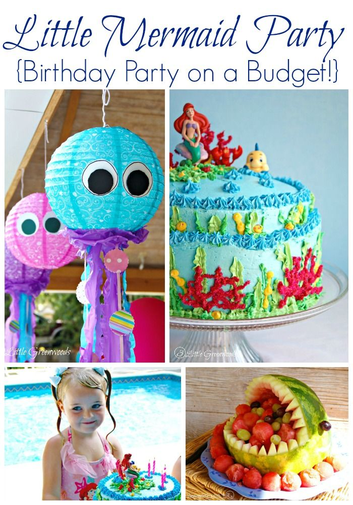 AMAZING Little Mermaid Birthday Party all planned on a BUDGET! 3 Little Greenwoo...