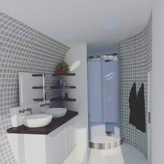 #architect #archilovers #architecture #artist #bathroom #white #shade #gray #interiordesigner #interior #interiordesign #interiors #velux #competition #snakehouse #fancy