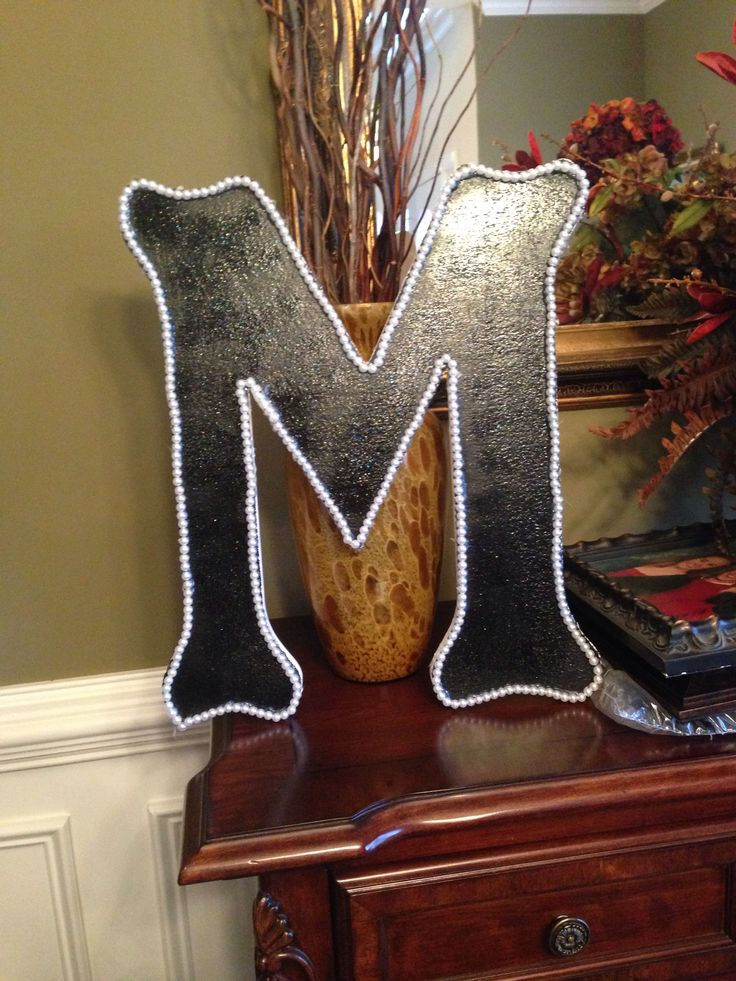 DIY wall letters #crafts #college #dorm #DIY #monogram