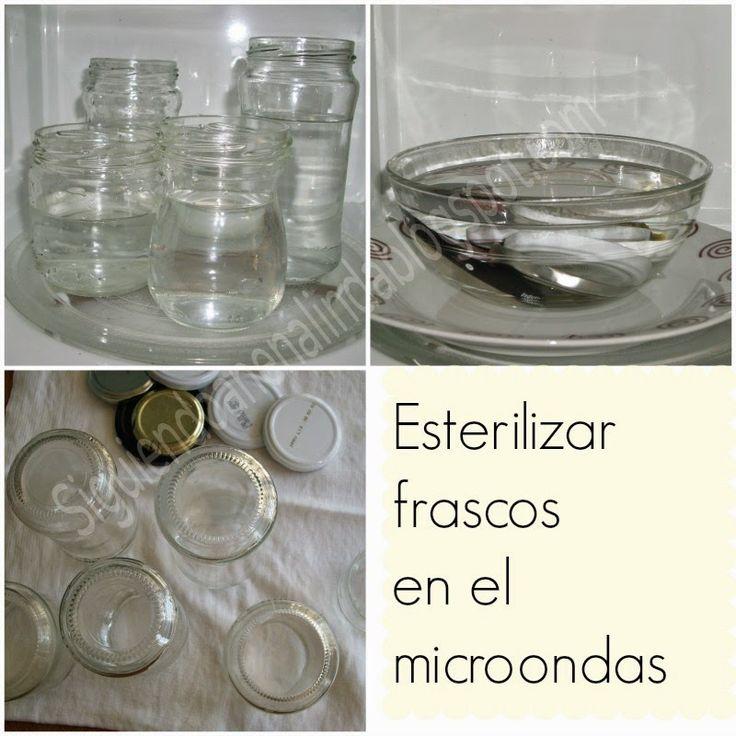 Siguiendo a Nenalinda: Esterilizar frascos en el microondas {paso a paso}..