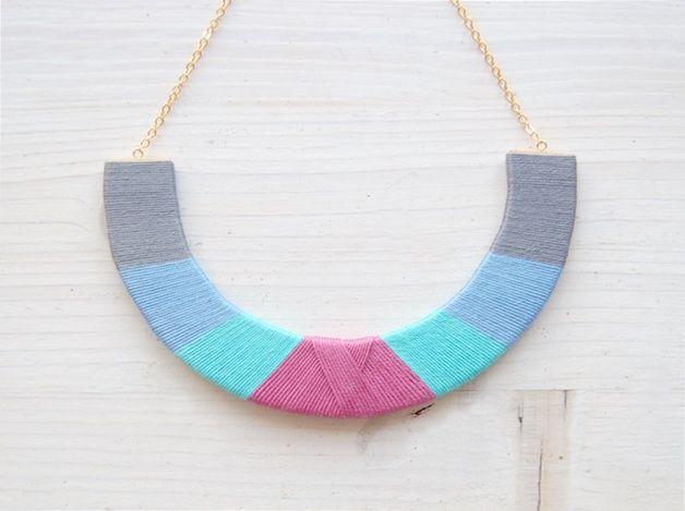 Statementkette im Ethno-Stil // statement necklace via DaWanda.com