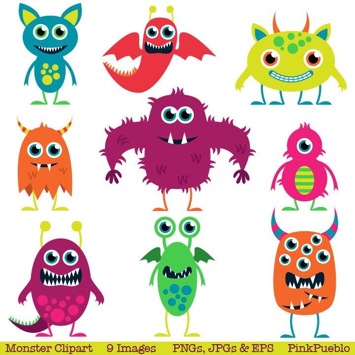 cute monster clipart - Google Search