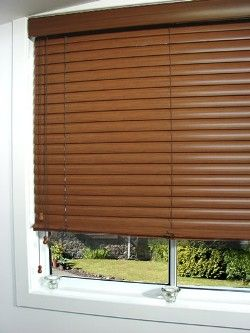 """Aluminium Venetians now come in a """"wood effect"""" look. With the """"wood look"""" you get the natural beauty of wood with the added beneift of the ..."""