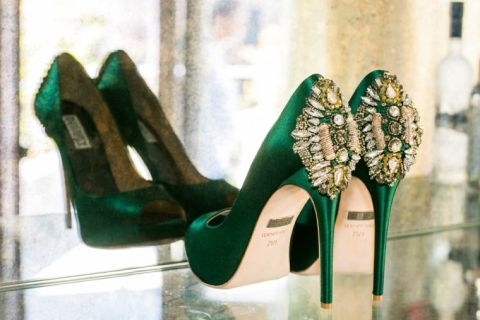 Emerald Green Wedding Shoes! #VENUE221 likes :)