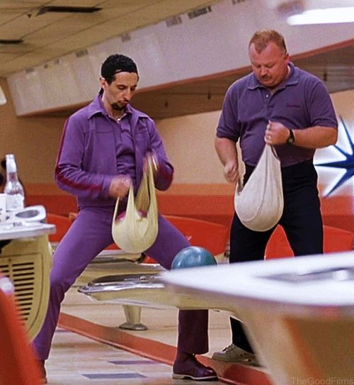 #gif | John Turturro in 'The Big Lebowski' (1998) written & directed by the Coen Brothers